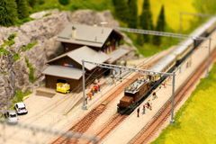 Alpine railroad Royalty Free Stock Photo