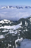 Alpine range. A picture of the snowy southern alps near Queenstown, New Zealand Royalty Free Stock Photo