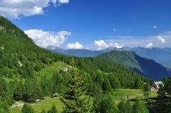 Alpine range landscape. Valle Divredro, Italian Alps Royalty Free Stock Images