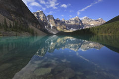 Alpine reflections at a mountain lake Royalty Free Stock Image