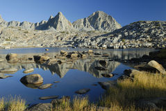 Alpine reflections in Sierra Nevada Mountains Stock Photography