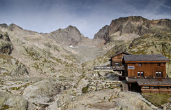 Alpine refuge hut Royalty Free Stock Photo