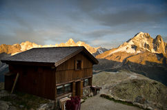 Alpine refuge hut Stock Image