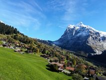 Landscape in Grindelwald, Switzerland stock photo