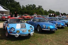 Alpine Renault in a row Royalty Free Stock Photography