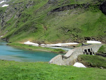 Alpine reservoir near Gorner Glacier Royalty Free Stock Photography
