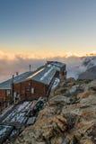 Alpine resort at sunset. Stock Photos