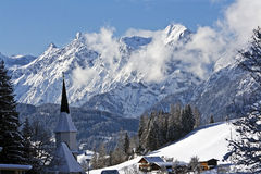 Alpine resort town Stock Photography