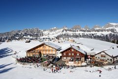 Alpine rest-area Stock Photo