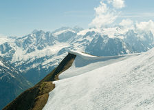 Alpine ridge & mountains. Alpine ridge with mountains in background, Planplatten Switzerland Stock Image