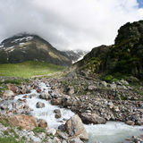 Alpine river. View of alpine mountain river in Switzerland royalty free stock photography