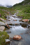 Alpine river. View of alpine mountain river in Switzerland stock images