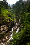 Alpine river in Bavaria Royalty Free Stock Photo