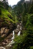 Alpine river in Bavaria Royalty Free Stock Photo
