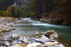 Alpine river, France Stock Photo