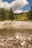 Alpine river. Alpine landscape on italian dolomites royalty free stock photography