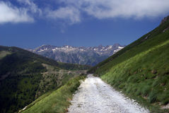 Alpine road Royalty Free Stock Images