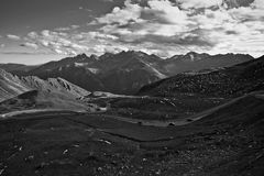 Alpine road. Photo of the Grossglockner high alpine road in the Alps Royalty Free Stock Photos