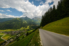 Alpine road Royalty Free Stock Photo