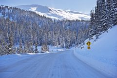 Alpine Road in Colorado Stock Photo