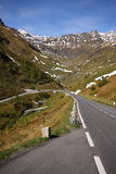 Alpine road curve Royalty Free Stock Photography