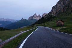 Alpine road in Dolomites Stock Photo