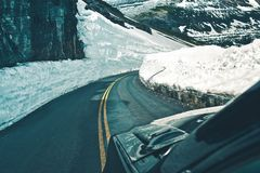 Alpine Road Drive Royalty Free Stock Image