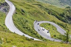 Alpine road, Eastern Alp Stock Photo