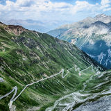 Alpine Road with Hairpins - Stelvio Pass Stock Photos