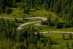 Alpine Road Royalty Free Stock Image