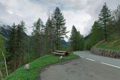 Alpine road Stock Photos