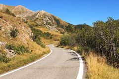 Alpine road, northern Italy. Royalty Free Stock Images
