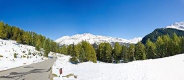 Alpine road Stock Image