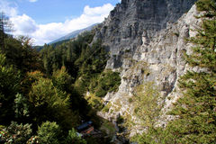 Alpine rock gorge Stock Images