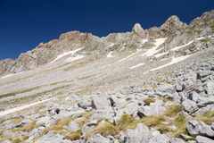 Alpine Rocky Slope Royalty Free Stock Photos