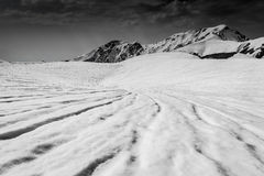 Alpine Route, Japan. Black and white of Alpine Route, Japanese Alps Royalty Free Stock Photo