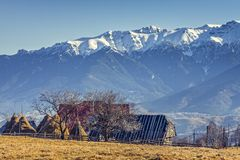 Alpine rural landscape Stock Images