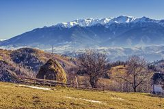 Alpine rural landscape Royalty Free Stock Photography