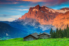 Free Alpine Rural Landscape With Old Wooden Barn,Grindelwald,Switzerland,Europe Royalty Free Stock Photos - 59722068