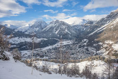 Alpine's panorama Royalty Free Stock Images