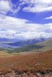 Alpine scene with Autumn colors in the tundra Stock Photo