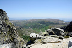 Alpine scene-Serra da Estrela National Park in Portugal Royalty Free Stock Photography