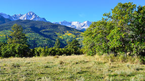 Alpine scenery of Colorado during foliage Stock Photo