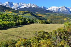 Alpine scenery of Colorado during foliage Royalty Free Stock Photography