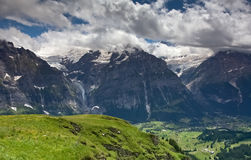 Alpine scenery, Grindelwald (Switzerland) Stock Photo