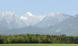 Alpine scenery with mountains Royalty Free Stock Photo