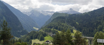 Alpine scenery at summer time Stock Photography