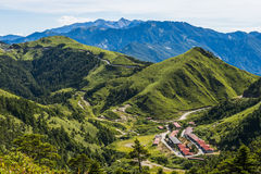 Alpine scenery from Taiwan. Alpine group in Taiwan, many visitors to this tourist royalty free stock image