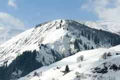 Alpine scenic in winter. Alps mountains in winter with snow, Beaufortain, Savoy Royalty Free Stock Photography