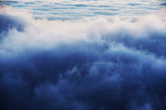 Alpine sea of clouds Royalty Free Stock Photos